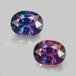color changing stones oval facet color changing sapphire gemstone image