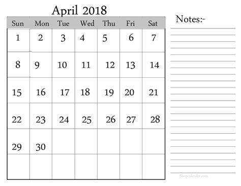 april 2018 calendar blank template april 2018 printable calendar blank calendar template