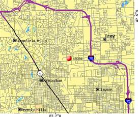 Troy Michigan Map by 48084 Zip Code Troy Michigan Profile Homes