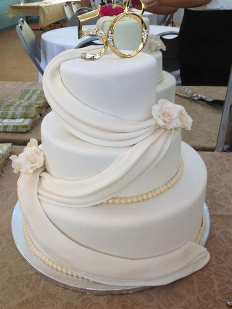 50th Wedding Anniversary Cake   50th anniversary