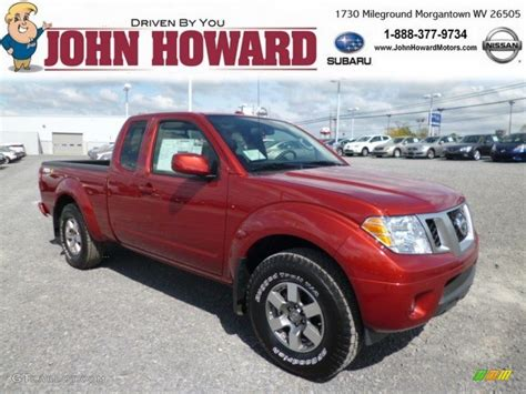 red nissan frontier 2013 lava red nissan frontier pro 4x crew cab 4x4