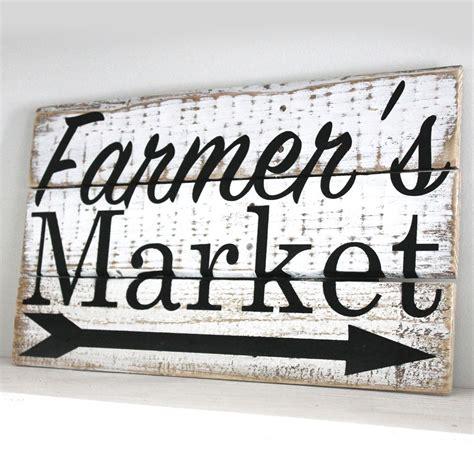 farmer s market wood sign kitchen decor distressed