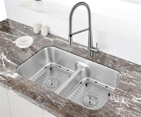 Kitchen Sink Store by Ruvati 32 Inch Low Divide 50 50 Bowl Undermount 16