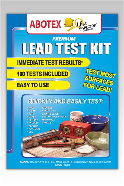 lead test kit 100 tests abotex lead inspector lead