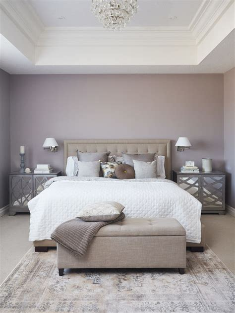 bedroom design ideas remodels photos with purple walls houzz