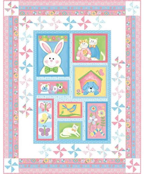 Bunny Quilt Patterns Free by Bunny Patch Trio Quilt Pattern Pc 123 Baby Advanced