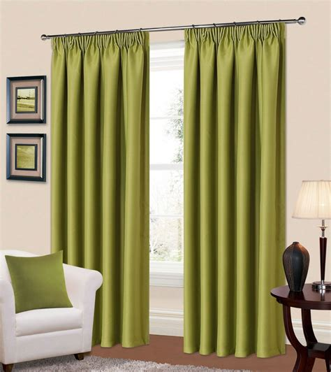 green thermal curtains plain green colour thermal blackout readymade bedroom