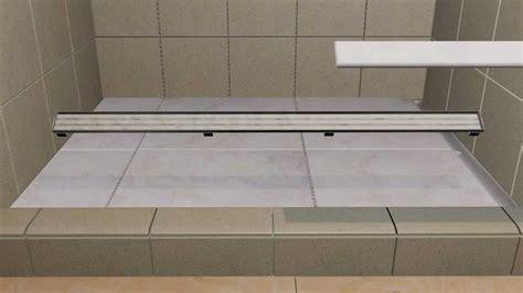 Bathroom Tile Floor Ideas laticrete hydro ban linear drains youtube