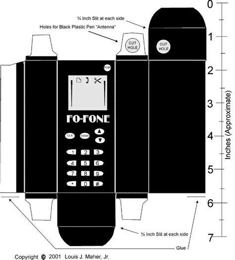 How To Make A Mobile Phone With Paper - paper craft tech retro cell phone paper model