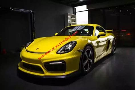 porsche widebody rear porsche cayman boxster 981 update gt4 wide kit front