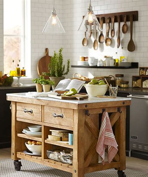 reclaimed wood kitchen island cabin kitchen