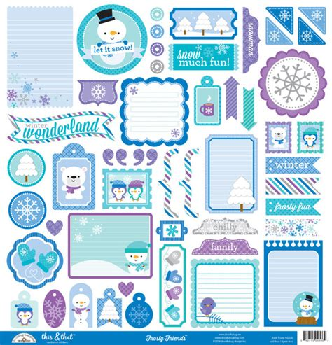 doodlebug frosty friends doodlebug design frosty friends this and that stickers