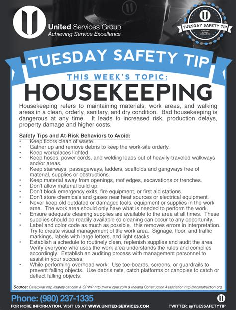 housekeeping tips tuesday safety tips on twitter quot tuesdaysafetytip