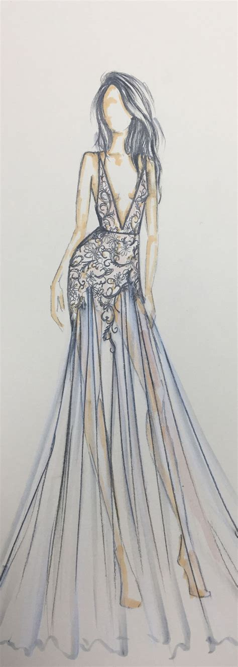 fashion design dress sketches berta 2017 sketch style 17 136