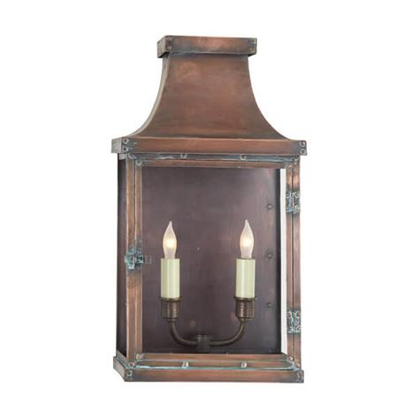 visual comfort outdoor lighting visual comfort suffork 18 inch wall light patina finish