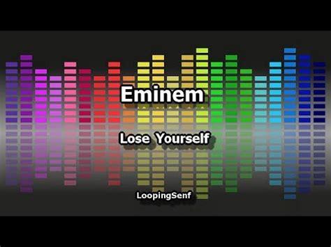 eminem azlyrics eminem lose yourself lyric video youtube
