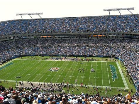 carolina panthers seating capacity bank of america stadium carolina panthers football