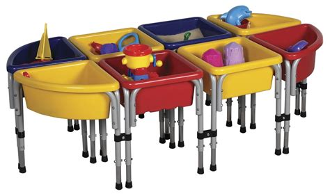 water table ecr4kids eight station sand water table with lids aaa