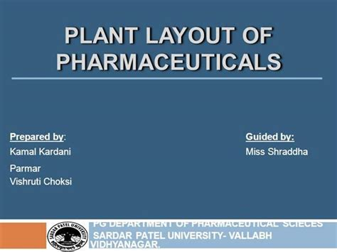 layout plant ppt plant layout of pharmaceuticals authorstream