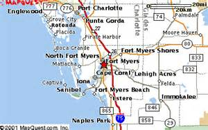 map fort myers florida area area map