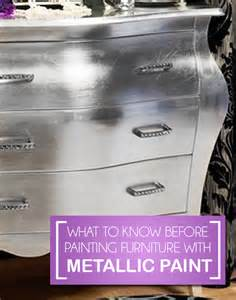 Painting furniture with metallic paint painted furniture ideas