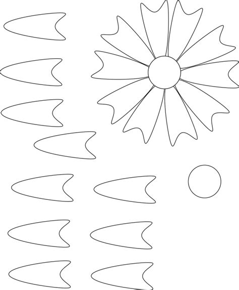 8 best images of large paper flower template giant paper
