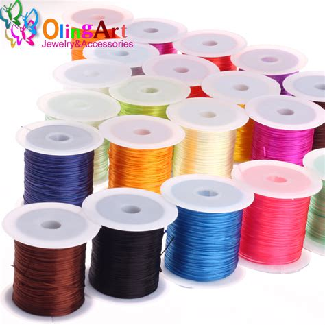 bead elastic cord olingart 1mm 10m multicolor flat for elastic cord bead