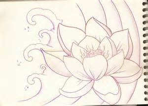 Lotus Flower Sketch Lotus Flower Sketch 1 By Purpleriot On Deviantart
