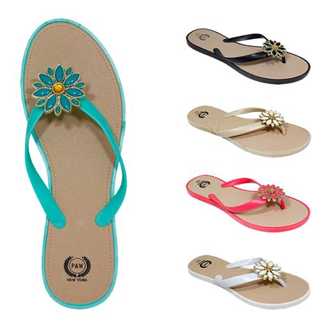Flower Flip Flops wholesale s flower flip flops sku 2182809 dollardays