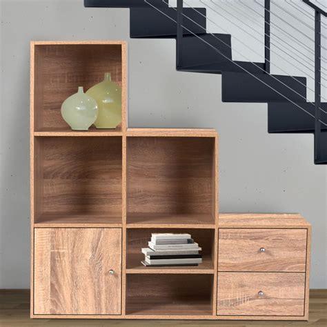 meuble de rangement escalier 3 niveaux bois fa 231 on h 234 tre