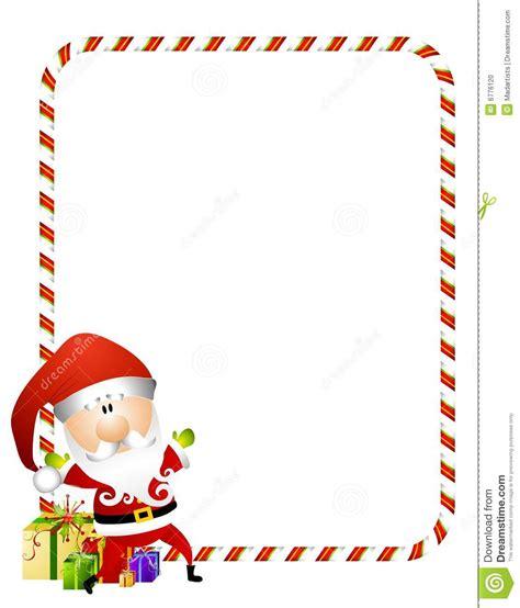 candy cane santa border stock illustration image of
