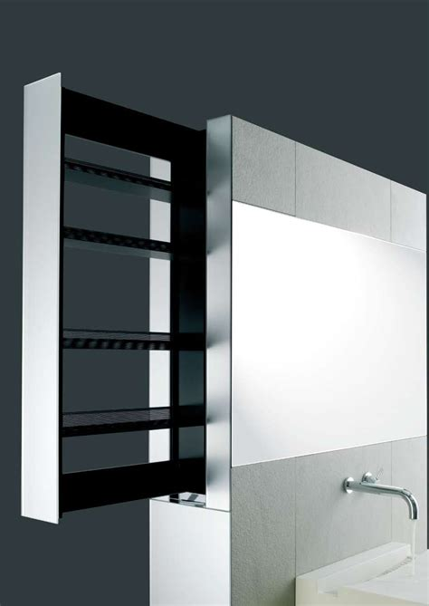 Bathroom Shelving Units For Storage Sliding Bathroom Storage Unit In A Wall Crab By Omvivo Digsdigs