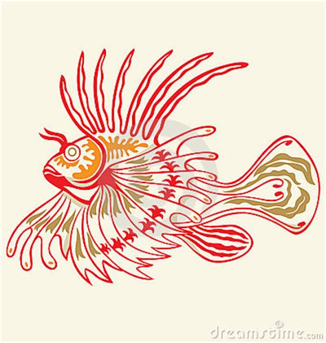 lionfish tattoo designs lionfish stock photography image 10039542