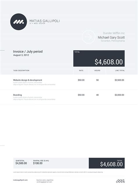 design work invoice 50 creative invoice designs for your inspiration hongkiat