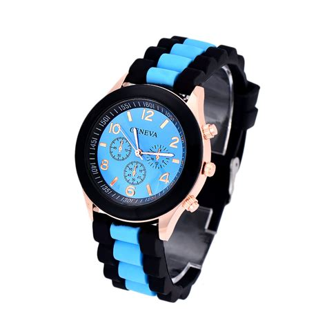 colorful mens womens watches silicone jelly gel quartz