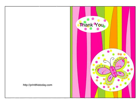 cute free baby shower thank you notes
