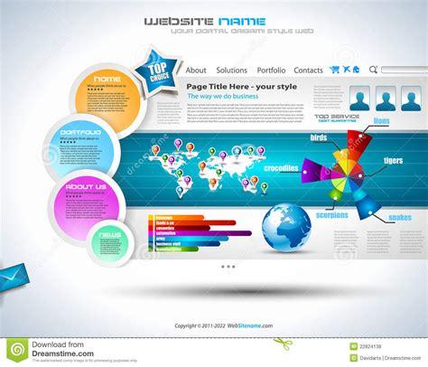 complex website template elegant design stock vector