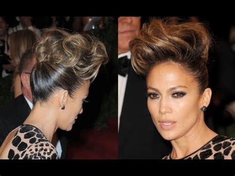 j lo hair stylist pompadour hair tutorial how to get jennifer lopez s updo