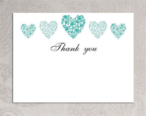 Thank You Card Template Word by Items Similar To Thank You Card Template Trio Of Hearts