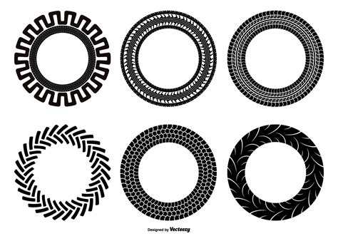 tire pattern ai tractor tire shape set download free vector art stock