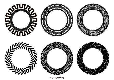 Tractor Tire Shape Set   Download Free Vector Art, Stock