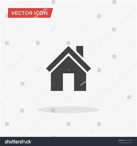 sonderzeichen haus house icon trendy flat style isolated stock vector