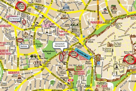 jerusalem city map jerusalem map