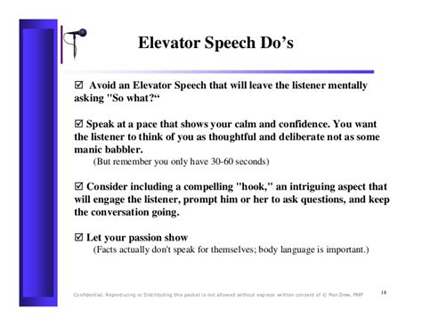 Sle Of Elevator Speech 60 second elevator speech sles how to write a 30 second