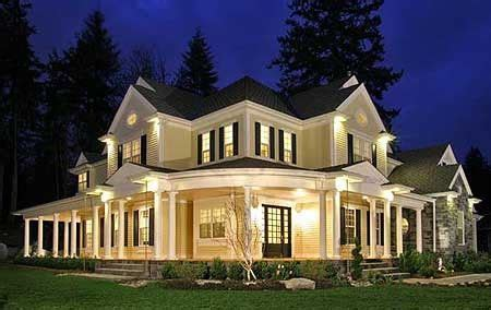 wrap around country porch house my fav