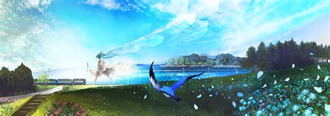 anime landscape android wallpaper anime scenery wallpaper wallpapersafari
