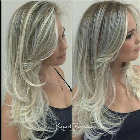 frosted hair to cover gray 500 best images about highlighted streaked foiled