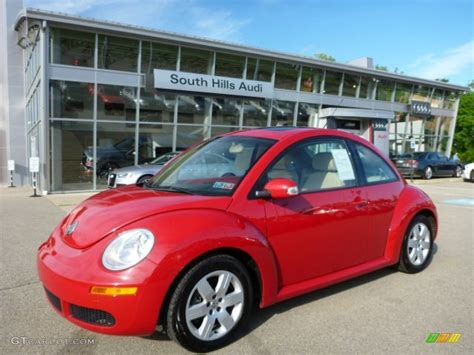 volkswagen new beetle red 2007 salsa red volkswagen new beetle 2 5 coupe 104439879