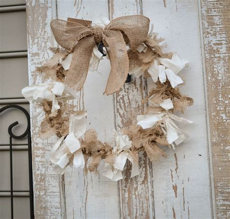 Bow Curtains Down To Earth Style Burlap Amp Muslin Knot Wreaths