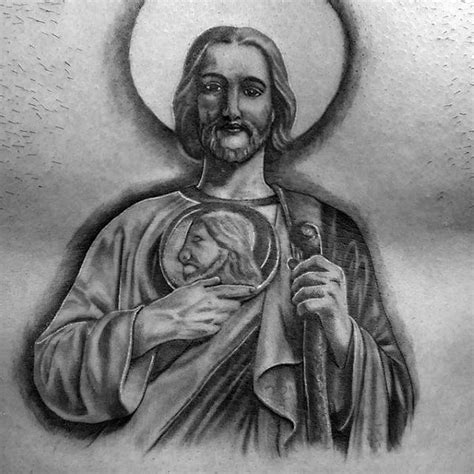 saint jude tattoo 40 st jude designs for religious ink ideas